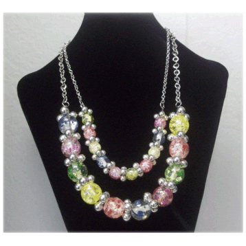 2 Row Ball Necklace