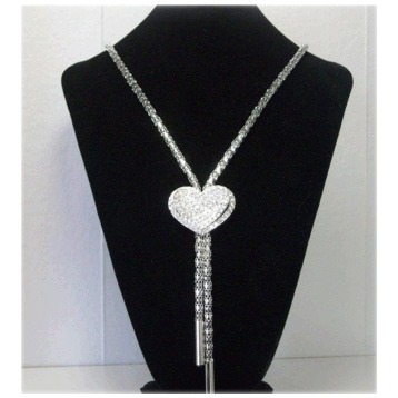 3D Effect Heart Necklace