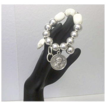 Antique Silver & Stone Bracelet