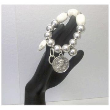 Antique Silver & Stone Bracelet