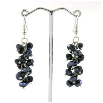 Black Crystal Earring
