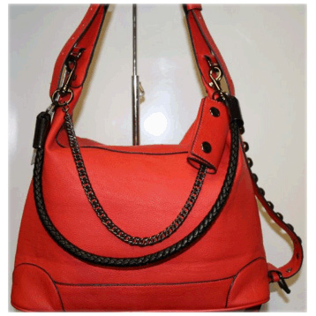 Extended Handle Bag in Red