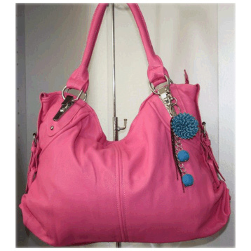 Flower Charm Bag in Pink
