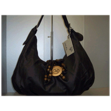 Fring Button Bag in Black