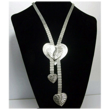 Long Heart on Heart Necklace
