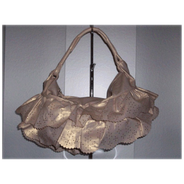 Metallic Skirt Bag in Bronze