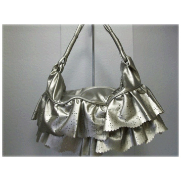 Metallic Skirt Bag in Silver