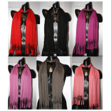 Scarf with Necklace Effect